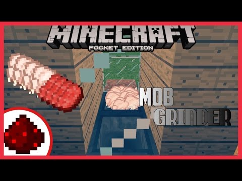 ✔️Minecraft PE 1.0.6 | Piston Mob Grinder (Simple and Easy) - Redstone Tutorial
