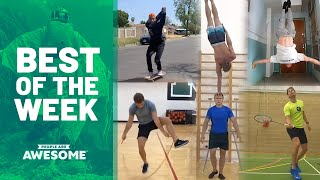 Jump Rope Workout, Badminton & Handstands | Best of the Week