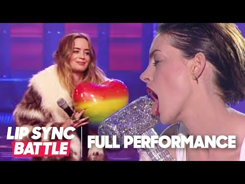 Anne Hathaways Wrecking Ball vs Emily Blunts Piece of My Heart  Lip Sync Battle