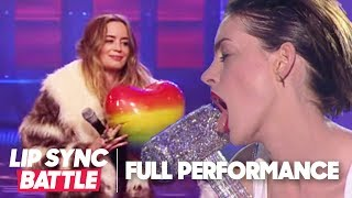Video Anne Hathaway's Wrecking Ball vs. Emily Blunt's Piece of My Heart | Lip Sync Battle download MP3, 3GP, MP4, WEBM, AVI, FLV November 2017