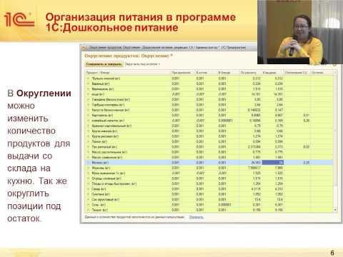 """К.Гарбажа Управление пищеблоком в """"1С:Дошкольное питание"""" в соответствии с требованиями СанПиН"""
