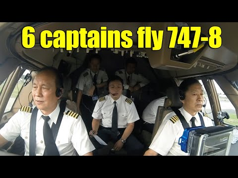 6 captains fly the first 747-8 of Air China to Beijing   China pilots eye