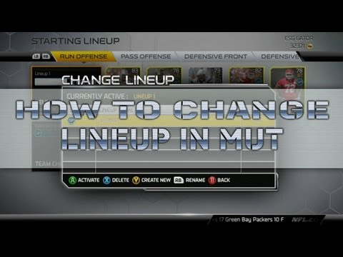"Madden 25 How to change your Lineup in Ultimate Team ""MUT Multiple Teams"""