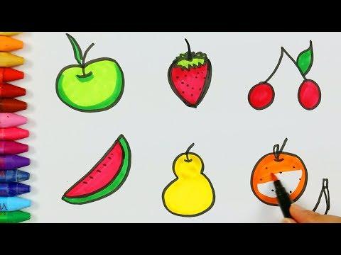 Meyve Cizimi Nasil Yapilir Cocuk Ve Bebek Icin Cizim Ve Boyama