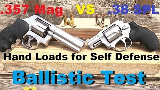 Hand Loads for Self Defense Ballistic Test