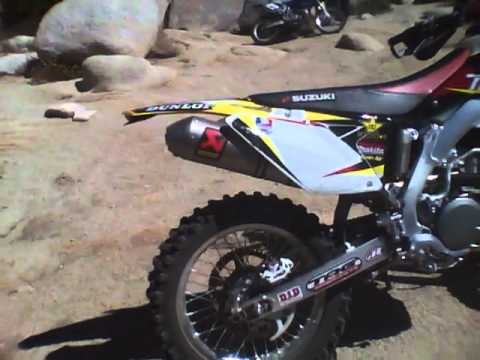 suzuki rmx 450 enduro ackropovic full system youtube. Black Bedroom Furniture Sets. Home Design Ideas