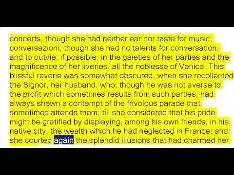 The Mysteries of Udolpho by Ann Radcliffe Part 2of4 (Book Reading, British English Female Voice)
