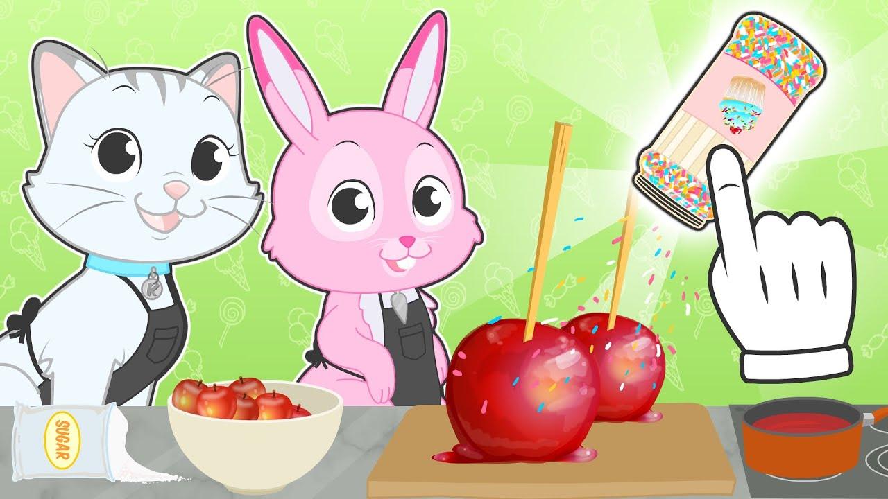 BABY PETS cocinan Manzanas caramelizadas 🍎😋 Recetas para niños