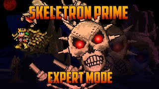 Terraria 1.3 - Skeletron Prime, Expert Mode Boss Battle