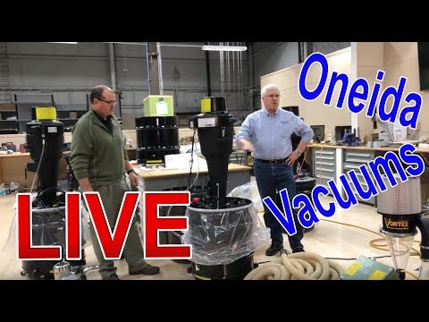 Oneida Vortex and Dust Cobra Vacuum For Hardwood Floor Sanding LIVE