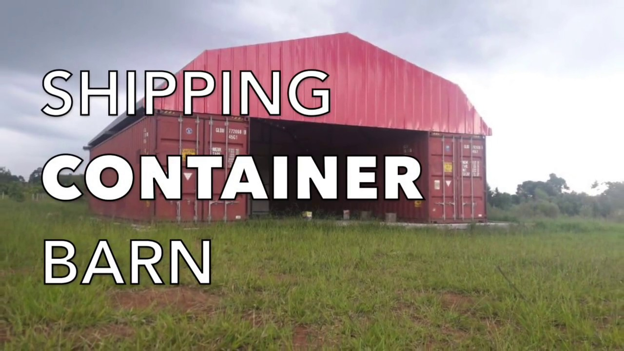 Best Kitchen Gallery: Shipping Container Barn In Pictures Youtube of Shipping Container Barn on rachelxblog.com