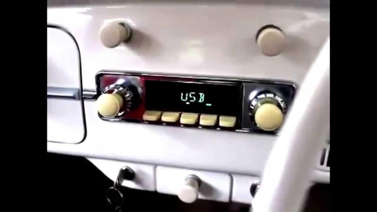 RetroSound Autoradio montiert im VW Käfer
