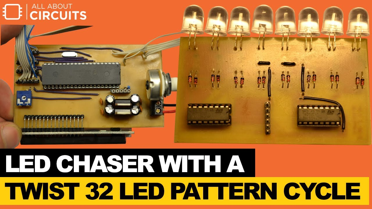 Led Chaser With A Twist 32 Pattern Cycle Youtube Simple Running Circuit Using 3 Transistors All About Circuits