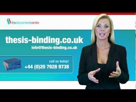 Thesis binding & dissertation binding services (London)