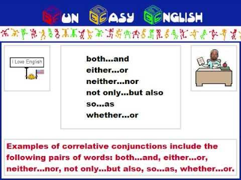 English Grammar Correlative Conjunction