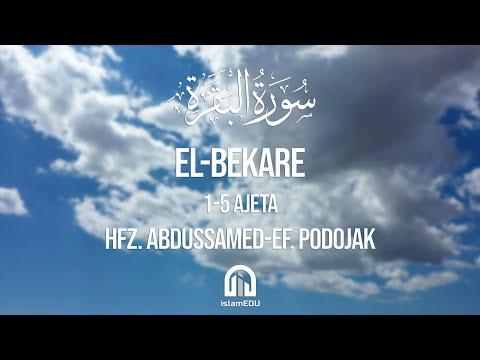 2. El-Bekare (Krava) | 1-5 ajeta | hfz. Abdussamed-ef. Podojak | سورة البقرة | عبد الصمد بدوجاك