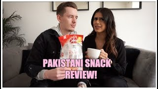 HUSBAND TRIES PAKISTANI SNACKS FOR FIRST TIME EVER!! | IRSA