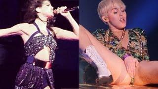 Repeat youtube video Miley Cyrus Bangerz Tour Vs. Selena Gomez Stars Dance Tour