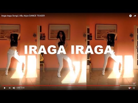 Iraga iraga Song    Allu Arjun DANCE TEASER