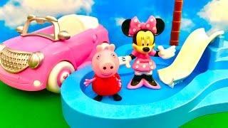Myszka Miki i Swinka Peppa po POLSKU - Minnie i Peppa na basenie / Klub Przyjaciol Myszki Miki