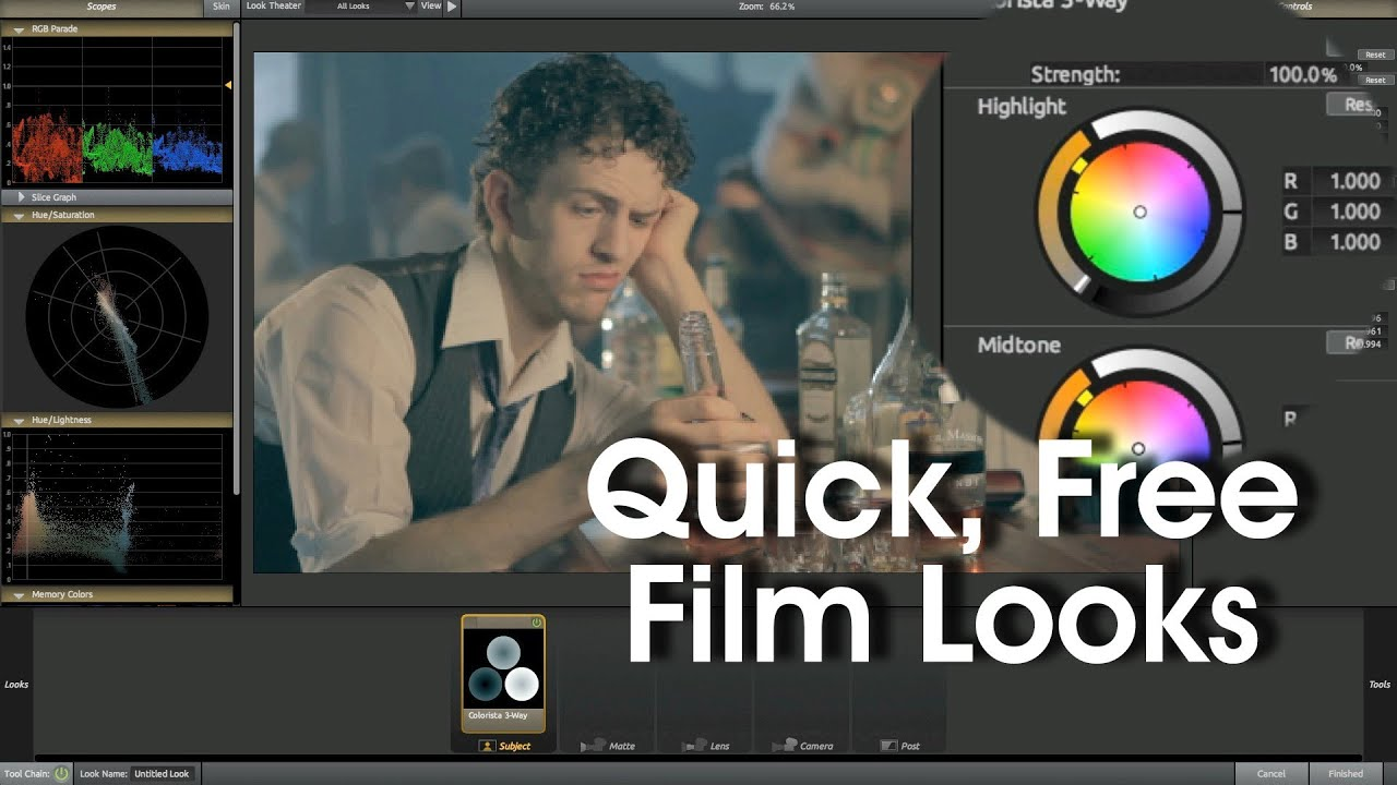 Color Grading Tutorial Free Cinematic Looks in Final Cut Pro 7