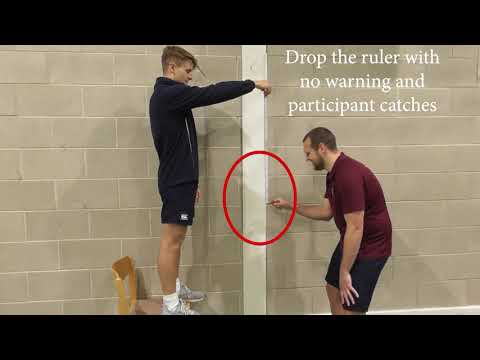 GCSE PE - Components Of Fitness (Testing) / Reaction Time - Ruler Drop Test (Scarborough College)