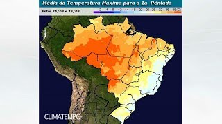 Temperaturas em elevação do Brasil