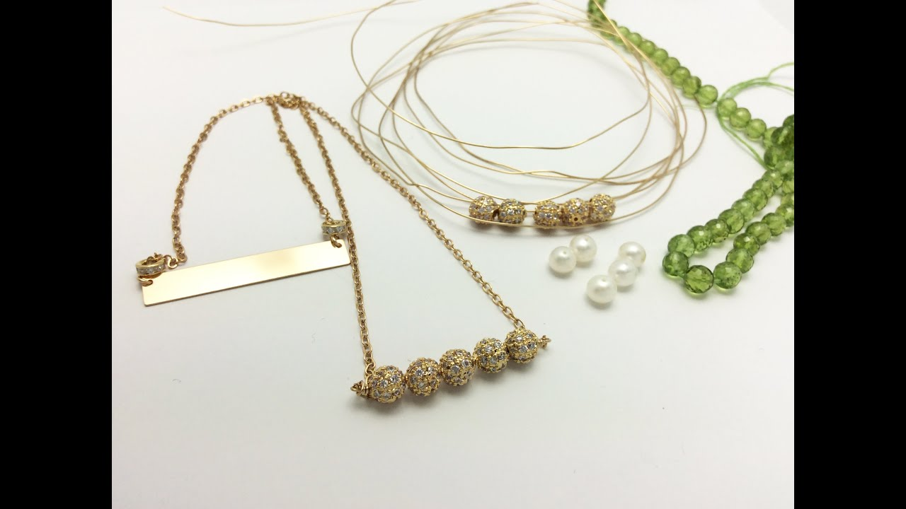 Bar Necklaces - Jewelry Design Tips, Tricks and Trends - YouTube