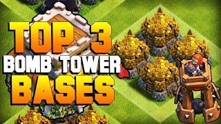 Clash of Clans | TOP 3 TH8 BOMB TOWER Farming Base 2016 | CoC BEST Town Hall 8 Defense [2016]
