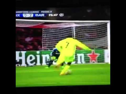 2do gol de Messi, Iguala el récord de Raúl vs Ajax