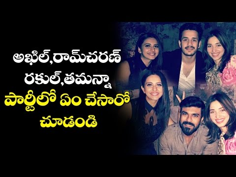 dhruva-ramcharan-private-party-with-akhil-akkineni-|-rakul-preet-|-tamannah-|-#khaidino150