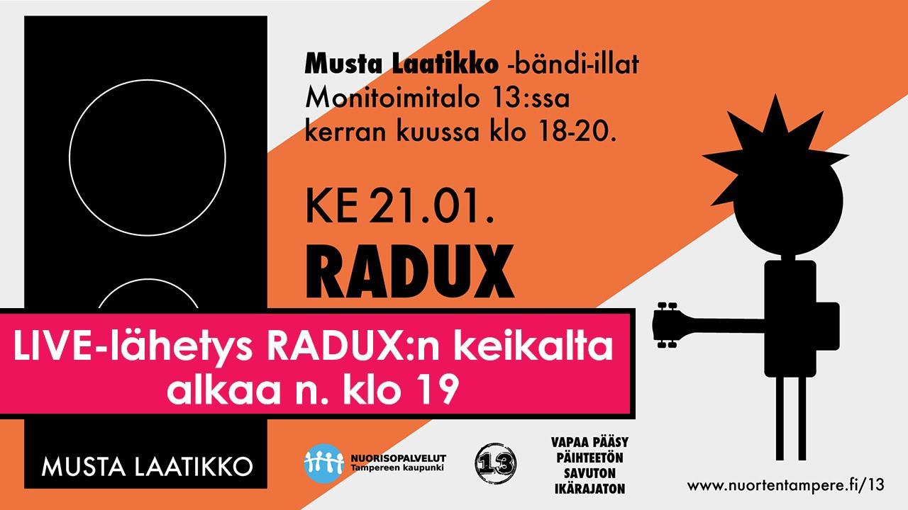 RADUX @ Musta Laatikko LIVE 21.1.2015 - YouTube