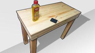 원목책상 제작과정 빠르게 보기  woodworking …