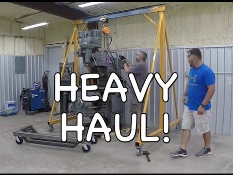Unload a Heavy Machine - Milling Machine (Mill) - Rigging -
