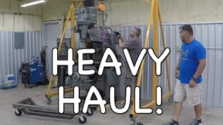 Unload a Heavy Machine - Milling Machine (Mill) - Rigging - Strapping - Lifting