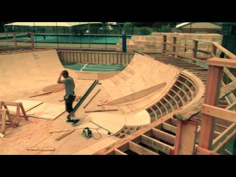 Surfers practice aerials w/skateboards - Red Bull Project Air
