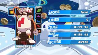 [TAS] Puyo Puyo Tetris (Switch) Sprint - 19.96 sec (10 Tetris Perfect Clears)