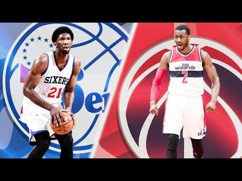 Philadelphia 76ers vs Washington Wizards | Full Game NBA 2K18 | SIMMONS CARRYING