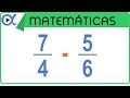 Tubidy Resta de fracciones usando el mínimo común múltiplo mcm | Aritmética - Vitual