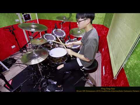 Drum Off Global 2019 Auditions,Intermediate Category, Ping-Ting-Tsai (蔡秉廷) ,Taiwan