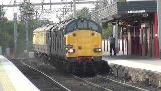 37605 & 37608 Haul the Chieftain through Wigan - 01 October 2012