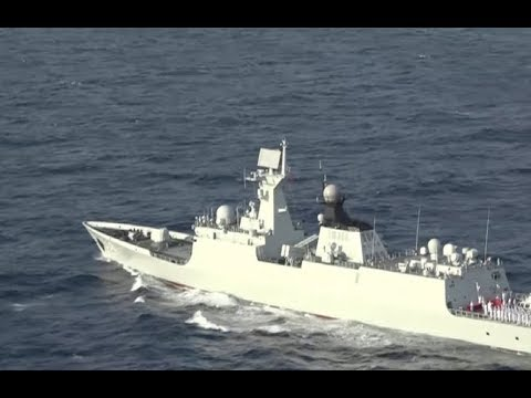 Chinese Fleet Leaves China's Territorial Waters for Escort Missions