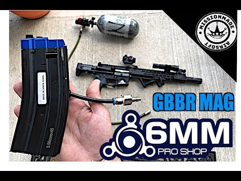 6mmProShop HPA Tapped 300rd Magazine For WE Gas Blowback Rifles    GBBR To HPA