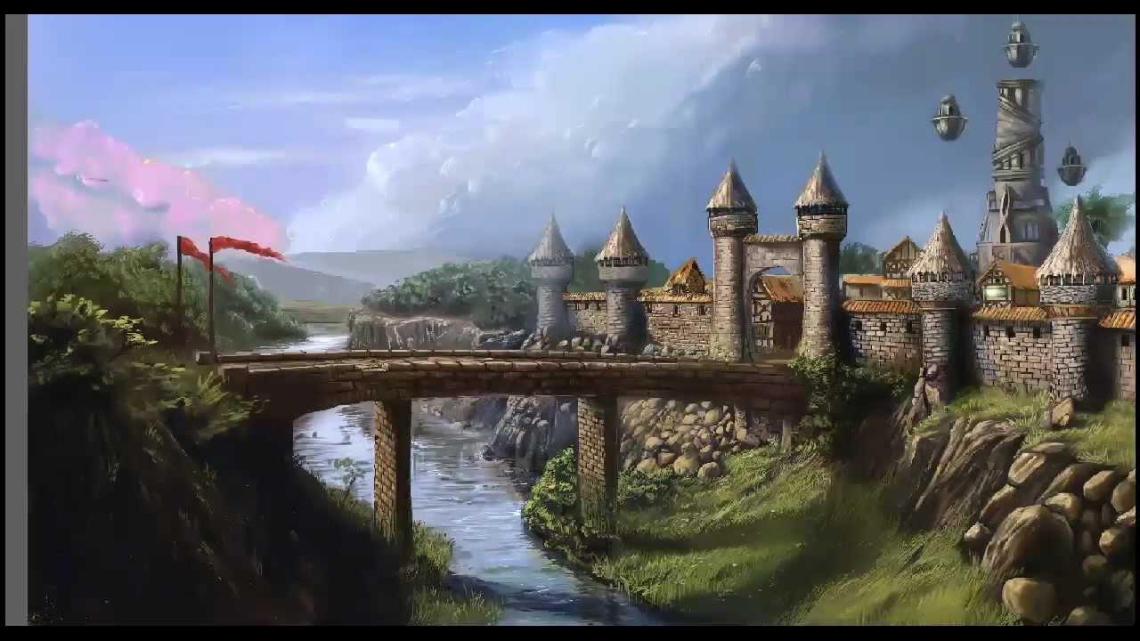 Fantasy Forest 3d Live Wallpaper Village Concept Art Speedpainting By Sentihell Youtube