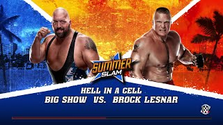 WWE 2K15- Big Show vs Brock Lesnar Hell in a Cell Match (PS4)