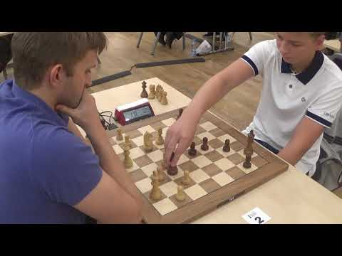 Giving up bishop for doubled pawns: Vitiugov - Chukavin, Trompowsky blitz chess