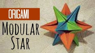 Modular star origami instructions