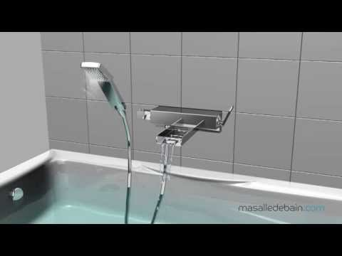 installation robinet mitigeur bain mural cascade youtube. Black Bedroom Furniture Sets. Home Design Ideas