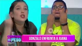 Fuerte cruce entre Gonzalo y Juana Repetto:
