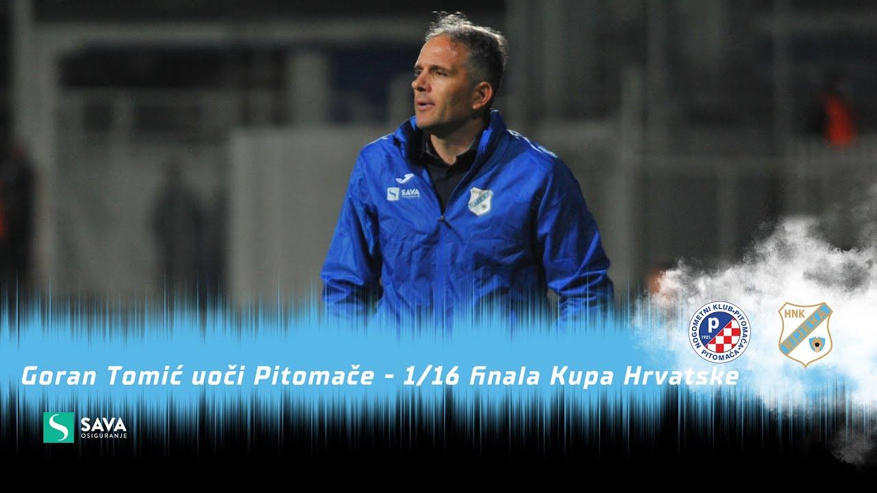 Goran Tomić uoči Pitomače - 1/16 finala Kupa Hrvatske (2021./2022.)